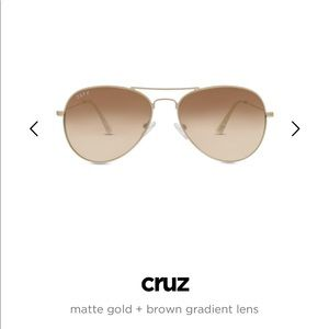 NWT DIFF Cruz Aviator Sunglasses